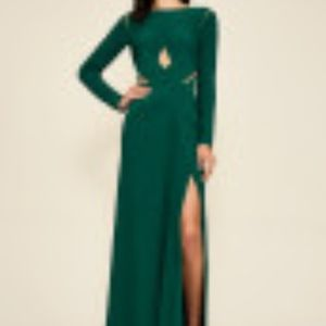 Bollani Pintuck Cutout Gown